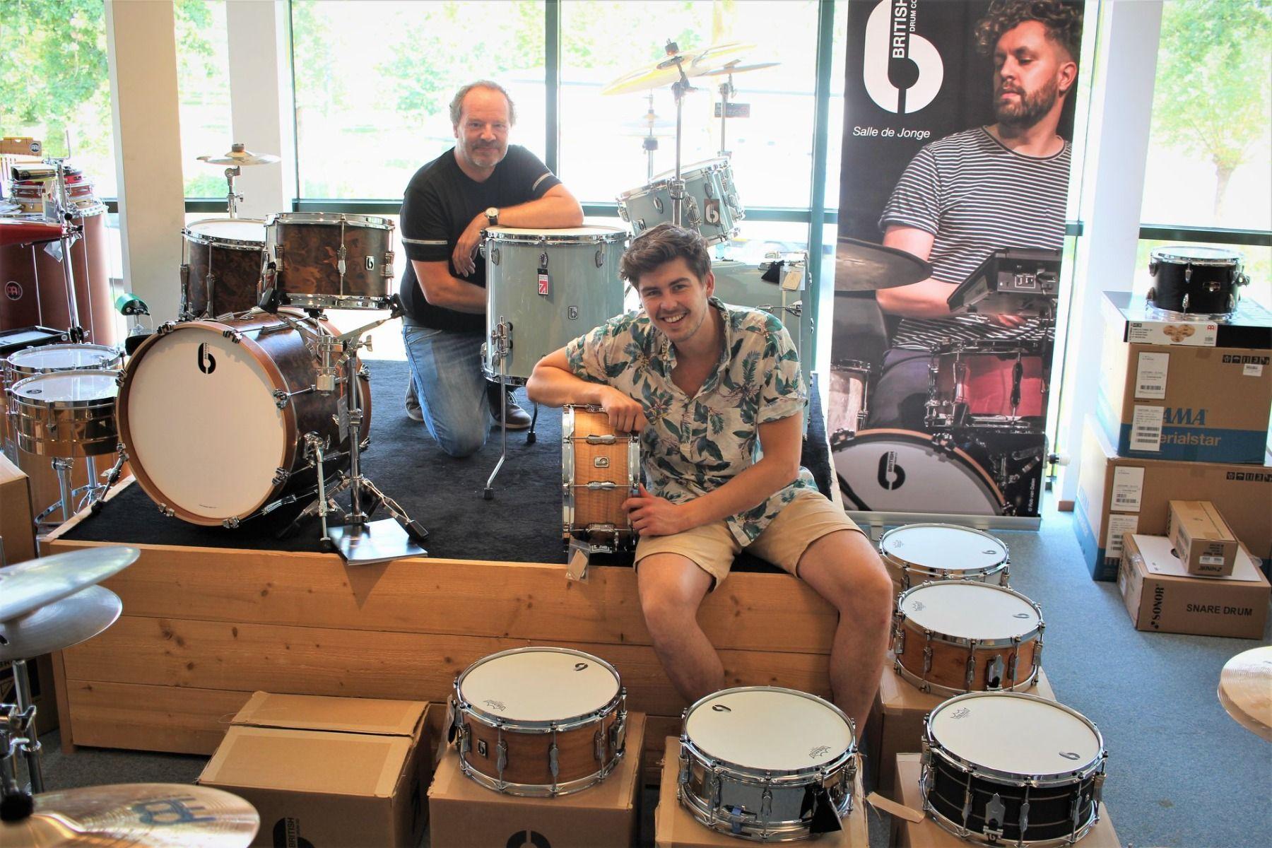 British Drums Tim en Gabriel