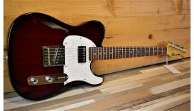 G&L Tribute Asat Bluesboy Semi Hollow, Redburst